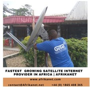 Choose the fastest growing Satellite Internet Provider in Africa